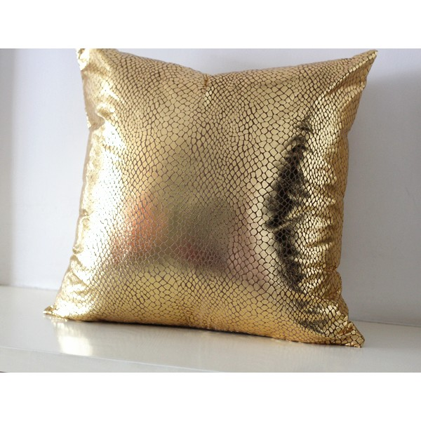 Shiny snakeskin Gold Pillow Cover , Cushion Cover ,Sequin Throw Pillow , Metallic Decorative Pillow , Glitter Pillow , Sparkle Pillow 03