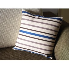 "Designer Linen Pillow - Blue and white stripes Pillow Cover -18"" 45 cm /22"" 55 cm Decorative Cushion Cover Throw Pillow cover 71"