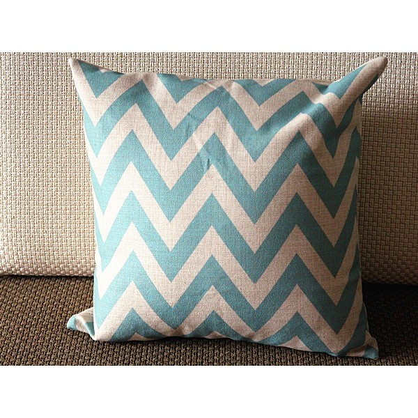 "10 colors Linen Pillow - Blue white stripes geometrical Pillow Cover -blue Pillow - 18"" 22"" Decorative Cushion Cover Throw Pillow cover 88"