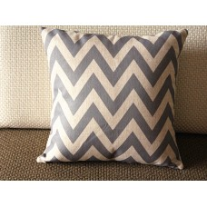 "10 colors Linen Pillow- gray white stripes geometrical Pillow Cover -gray Pillow - 18"" 22"" Decorative Cushion Cover Throw Pillow cover 89"