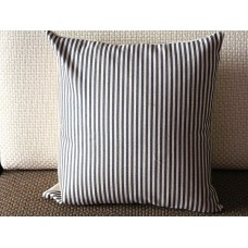 "Linen Pillow - gray white stripes geometrical Pillow Cover -18"" 22"" 24"" Decorative Cushion Cover Throw Pillow cover 91"