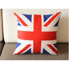 "Designer Linen Pillow -red white blue union jack Pillow cover- 18"" /45 cm Decorative Cushion Cover Throw Pillow 173"