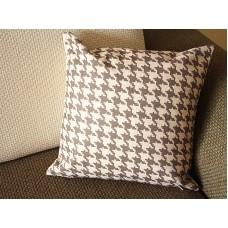 "Designer Linen Pillow -coffee beige diamond geometrical Pillow Cover - 18"" 45 cm /22"" 55 cm Decorative Cushion Cover Throw Pillow cover 204"