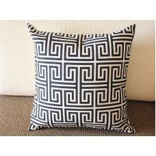 "10 colors Designer Linen Pillow -black white geometrical geometrical Pillow Cover-18"" /45 cm Decorative Cushion Cover Throw Pillow cover 221"
