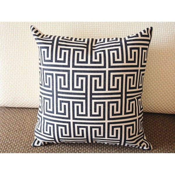 "10 colors Designer Linen Pillow -black white geometrical geometrical Pillow Cover-18"" /45 cm Decorative Cushion Cover Throw Pillow cover 221"