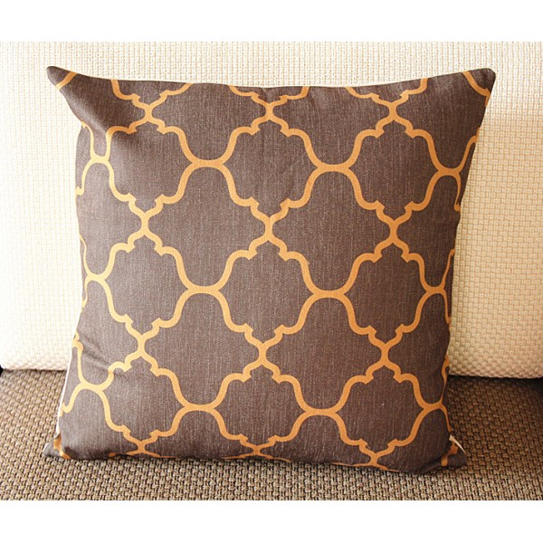 "Designer Linen Pillow -coffee brown diamond geometrical Pillow Cover - 22"" /55 cm Decorative Cushion Cover Throw Pillow cover 244"