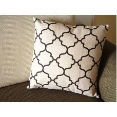 Designer Linen Pillow -coffee beige diamond geometrical Pillow Cover - Decorative Cushion Cover Throw Pillow cover 245