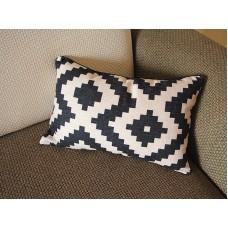 10 colors Linen Pillow - black white diamond geometrical Pillow Cover - lumbar Pillow - Throw Pillow Cushion Covers 12 x 20 ,14 x 20 246