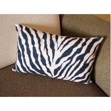 Linen Pillow - black white Zebra pattern geometrical Pillow Cover - lumbar Pillow - printing Throw Pillow Cushion Covers- 12*20 14*20 247