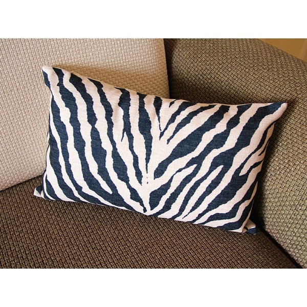 Linen Pillow - black white Zebra pattern geometrical Pillow Cover - lumbar Pillow - printing Throw Pillow Cushion Covers- 12*20 14*20 247