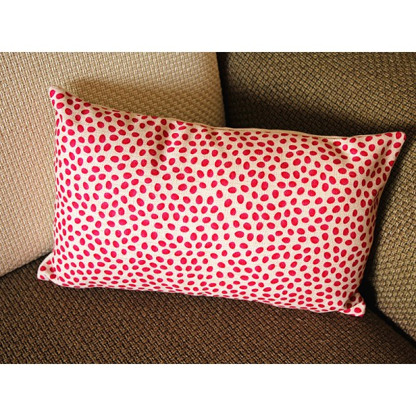 "11 colors Linen Pillow - red white rose leaf geometrical Pillow Cover - lumbar Pillow - printing Throw Pillow Cushion Covers- 12"" x 20"" 248"
