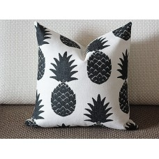 11 colors Pillow Covers, black pineapple pillow cover, Decorative throw pillows, Throw pillows, Outdoor pillows, Couch pillow 259