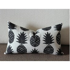 11 colors Pillow Covers, black pineapple lumbar pillow cover, Decorative throw pillows, Throw pillows, Outdoor pillows, Couch pillow 260
