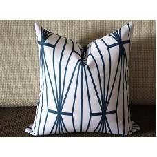 dark blue Katana Pillow Cover - Ivory Ebony - dark blue and Ivory Pillow - Designer Geometric Pillow Cover 266