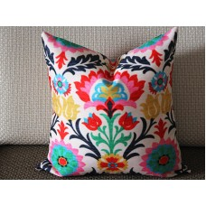 Waverly Santa Maria Desert Flower & Panama Wave Lumbar Print Decorative Pillow Cover 12x18 12x20 267