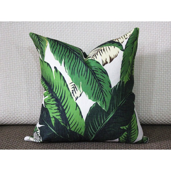 tropical dark green palm banana leaf pillow covers - leaves pillow - throw pillow - cushion cover graphic decorative pillow pillow cover 272