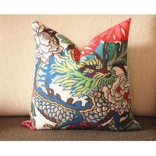 9 colors Designer Pillow - Decorative Pillow Cover - dragon pillow -white Blue Red Orange Coral Yellow Pillow 275
