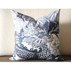 9 colors Designer Pillow - Decorative Pillow Cover - dragon pillow -white Blue Red Orange Coral Yellow Pillow 275