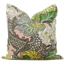 pink dragon pillow  Designer Pillow - Decorative Pillow Cover - dragon pillow -white pink Blue Red Orange Coral Yellow Pillow 275