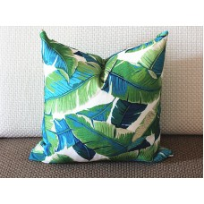 Tropical Palm Leaf Pillow Cover - Large Palm Leaf - TURQUOISE - Green - Dark Green - Light Green - Decorative Outdoor Pillow Cover 276