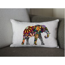yellow Elephant lumbar pillow, Cotton Linen Elephant lumbar pillow cover, cartoon pillow covers 284