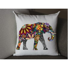 yellow Elephant pillow, Cotton Linen Elephant pillow cover, cartoon pillow covers 280
