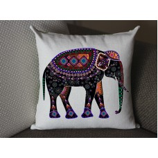 black elephant pillow, Cotton Linen elephant pillow cover, cartoon pillow covers elephant lumbar pillow 278