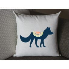 black fox lumbar pillow, Cotton Linen fox lumbar pillow cover, cartoon pillow covers 293