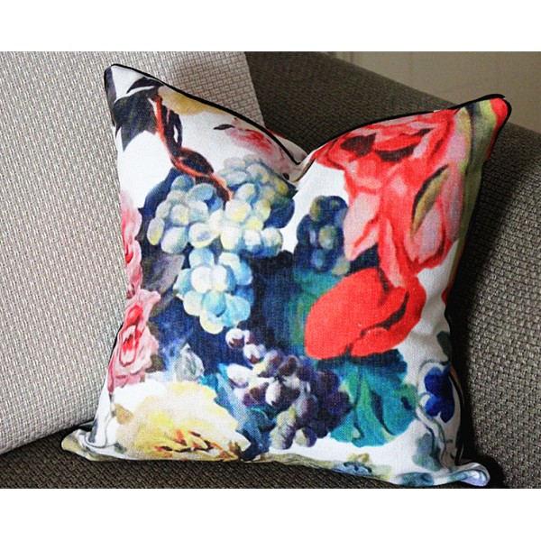 Designers Guild Orangerie Pillow Cover Both Sides and Piping Flower Pillow Cover Decorative Pillow Throw Pillow 16x16 18x18 20x20 295