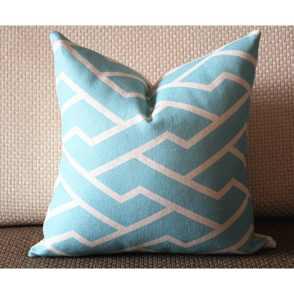 3 colors designer Pillow - Pink blue City Maze Pillow Cover- Pink and White Geometric Pillow - Throw Pillow Pink Home Decor - Zig Zag 299