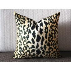 Leopard thin Velvet Pillow Cover - Animal Print Throw Pillow - Gold and Black Short plush Velvet Pillow  303