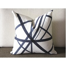 Black stripes pillow - Black Channels Pillow Cover - Black Pillow - Designer Geometric Pillow Cover 304