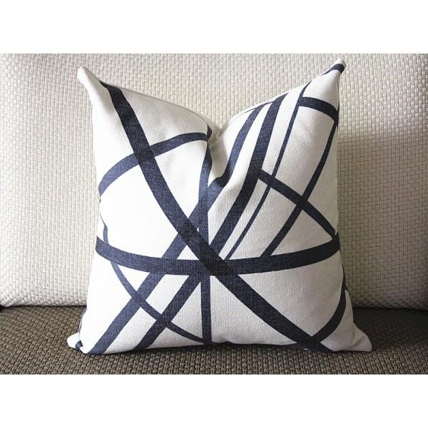 Black stripes pillow - Black Channels Pillow Cover - Black Pillow - Designer Geometric Pillow Cover 304