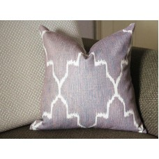 Edom Grey Ikat Pillow Cover (18x18, 20x20, 22x22, 24x24,26x26) cotton linen pillow covers 305