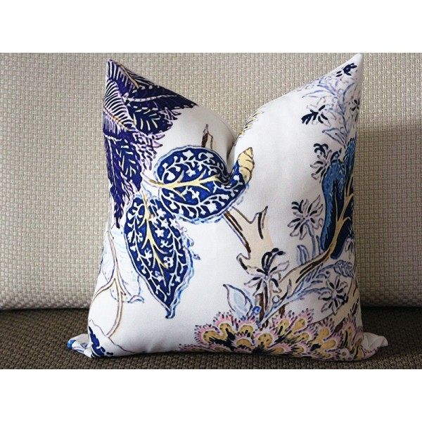 Designer canvas Pillow - Indian Arbre pillow cover in Hyacinth Pillow Cover - Blue Pillow - Throw Pillow - Pillow 310