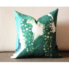 green pillow - leaves pillow - throw pillow - cushion cover graphic decorative pillow pillow cover 319