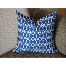 10 colors Navy Blue and Off White Pillow, 16x16, 18x18, 20x20, Simple Navy Blue Pillow 327