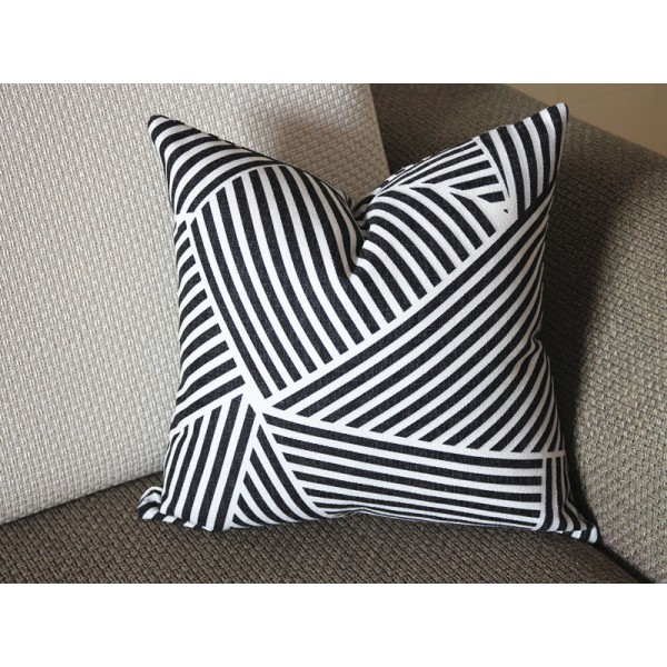 Elegant Black and White Paramount Pillow Cover (16x16, 18x18, 20x20, more), Modern Pillow Cover 330