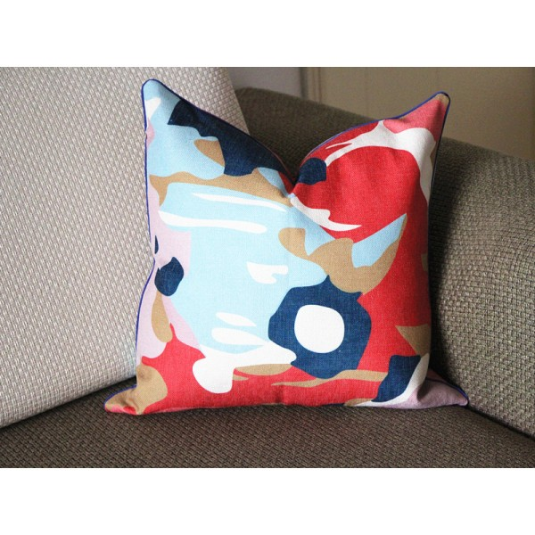 Designer Fabric coral white mint green navy blue pink abstract pillow cover euro sham 16 18 20 22 24 cushion nursery lumbar 333