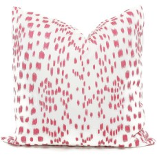 Brunschwig Fils Les Touches Throw Pillow Cover with Zipper, Designer Cushions, Spotted Animal Print Decor, Square, Lumbar and Custom Sizes 335