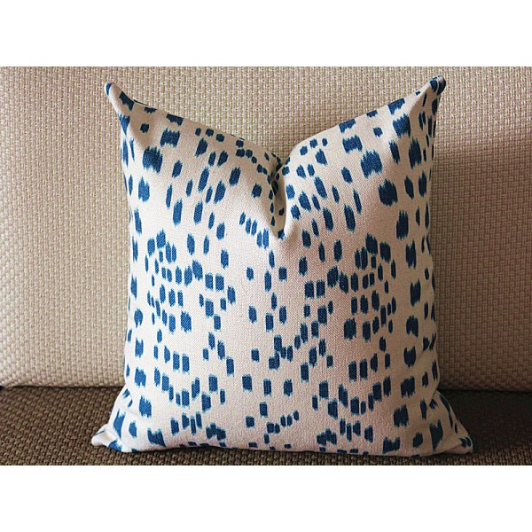 Touches blue Decorative Throw Pillow,Pillow Cover. blue Lumbar Pillow 336