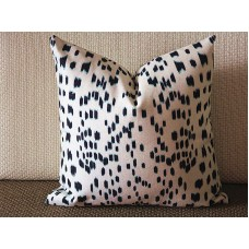 Brunschwig Fils Les Touches Throw Pillow Cover with Zipper, Designer Cushions, Spotted Animal Print Decor, Square, Lumbar and Custom Sizes 337