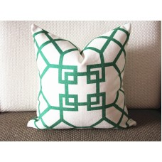 10 colors to choose Pillow Cover-Emerald Green-Kravet Couture-Chinoiserie-Geometric-18x18,20x20,22x22 338