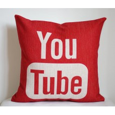 YouTube pillow cover,Google Youtube pillow case, social media pillow-18x18,20x20,22x22 352