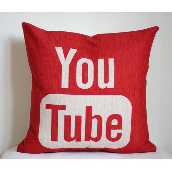 YouTube pillow cover,Google Youtube pillow case, social media pillow-18x18,20x20,22x22 352