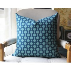 peacock green blue black pillow - green blue black beige trellis Pillow - Throw Pillow - Designer Pillow 360