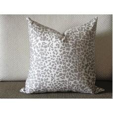 coffee Leopard Linen Print Pillow Cover (18x18, 20x20, 22x22, 24x24,26x26) cotton linen pillow covers 368