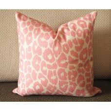 Iconic Leopard Print Pillow Cover with Zipper, Toss Euro Sham or Lumbar Cushion Case, Throw Pillow Accent in Linen 370