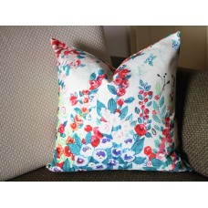 Luxurious Floral Pillow Cover,Colourful Floral Pillow Cover,Watercolor Floral Pillow Cover,Outdoor pillows,flower pillow,Pillows 375