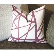 Wine Red Channels Pillow Cover -Plum Oatmeal Pillow - Designer Geometric Pillow Cover 384